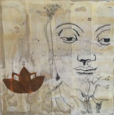 Buddha, spiritual, beeswax, painting, mixed media, encaustic, lotus by celineennis on Etsy https://www.etsy.com/listing/524535882/buddha-spiritual-beeswax-painting-mixed