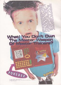 Advert for Pokédex toy from Tiger Electronics. Pokemon, Gaming, Electronics, Retro, Toys, Activity Toys, Videogames, Clearance Toys, Game