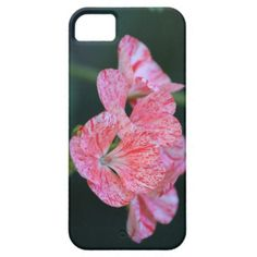Pink and red speckled flower phone case