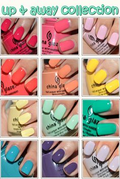 China Glaze - Up collection  i want every single one of these!!!