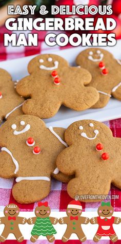 These sweet Gingerbread Men cookies are easy to make, fun to decorate and taste AMAZING. Great for Christmas cookies or cookie exchanges during the holidays. #baking #gingerbread #gingerbreadman #cookies #christmascookies #recipes #dessert #lftorecipes