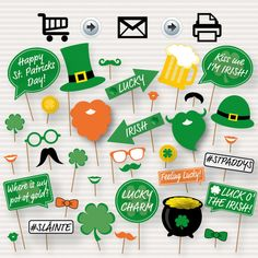 Irish Photo Booth Props for St. Patrick's Day celebrations.