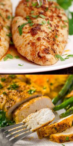 oven baked chicken tenders * oven baked chicken + oven baked chicken wings + oven baked chicken tenders + oven baked chicken parmesan + oven baked chicken drumsticks + oven baked chicken recipes + oven baked chicken whole + oven baked chicken and rice Juicy Baked Chicken, Healthy Baked Chicken, Oven Chicken Recipes, Baked Chicken Breast, Chicken Breasts, Roast Chicken Breast Recipes, Simple Baked Chicken, Baked Chicken Meals, Easy Chicken Tenderloin Recipes