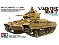 The Tamiya British Infantry Tank Mk.II/IV Model Kit from the plastic tank model kits range accurately recreates the real life tank.