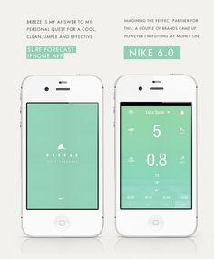 Monday morning inspiration: Luis Vaz surf conditions app concept UI / via #Behance