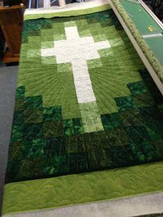 cross on green