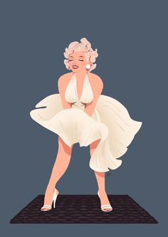 MM Subway by SlamBoy | This image first pinned to Marilyn Monroe Art board, here: http://pinterest.com/fairbanksgrafix/marilyn-monroe-art/ || #Art #MarilynMonroe