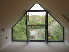 We design all manner of dormer loft conversions, from simple dormer windows to full-length shed dormers - simple, elegant & affordable. Attic Loft, Loft Room, Attic Rooms, Attic Spaces, Bedroom Loft, Dormer Bedroom, Bedroom Balcony, Attic Bathroom, Bungalow Conversion