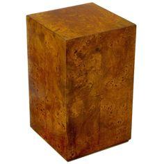 Milo Baughman Burled Walnut Pedestal Table