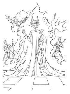 La sorcière Maléfique coloriage