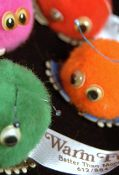 Remember these fuzzy ball stickers from the 70's? These can still be purchased!