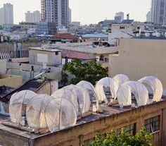 Rooftop Installation Filled by Bedouin Tents – Fubiz Media