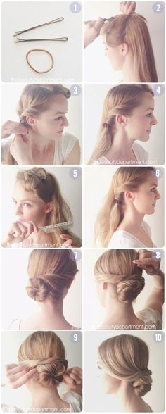 What's the Difference Between a Bun and a Chignon? - How to Do a Chignon Bun – Easy Chignon Hair Tutorial - The Trending Hairstyle Bun Hairstyles, Pretty Hairstyles, Wedding Hairstyles, Elegant Hairstyles, Hairstyle Ideas, Hairstyles With Fascinators, Simple Everyday Hairstyles, Simple Hairdos, Bridesmaids Hairstyles