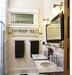 Items similar to Wash your hands- Bathroom- Vinyl Lettering wall words graphics decals Art Home decor itswritteninvinyl on Etsy Bathroom Vinyl, Bathroom Rules, Bathroom Ideas, Bath Ideas, Small Bathroom, Blue Bathrooms, Beige Bathroom, Dream Bathrooms, Bathroom Inspiration