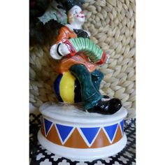 """Clown (Musical Figurine)""""Schmid"""" No 316 ($22) ❤ liked on Polyvore featuring home and home decor"""