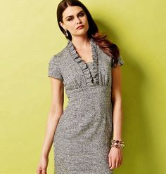 Mantel Kleid Muster hohe Taille a-line Kleid Muster Sz von blue510
