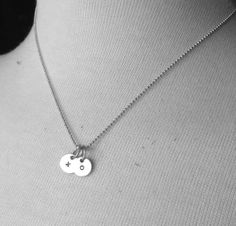 Sterling Silver xo Necklace Hugs and Kisses by GirlBurkeStudios, $27.50