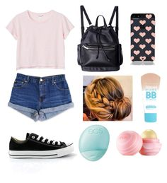 """""""#1"""" by gargamela ❤ liked on Polyvore featuring beauty, Levi's, Monki, Kate Spade, Maybelline, Converse and Eos"""