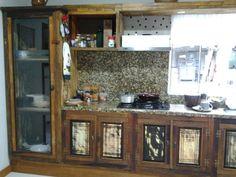 Jogo de cozinha re móveis rústicos