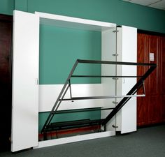 Murphy Bed system with library cabinet (not included)