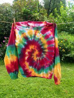 Rasta Tie Dye Sweatshirt - Custom Made Tie Dye Sweatshirt - Rasta Crewneck Tie Dye Sweatshirt
