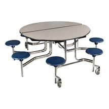Elongated Mobile Stool Cafeteria Tables at SCHOOLSin School
