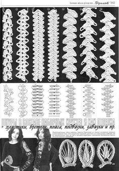 РУМЫНСКОЕ КРУЖЕВО - crocheted cords for Romanian point Lace ~ no translator available but good Pictoral. Crochet Cord, Crochet Bracelet, Freeform Crochet, Crochet Diagram, Filet Crochet, Irish Crochet, Crochet Motif, Diy Crochet, Crochet Borders
