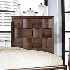 Darian Classic Medium Walnut 5-drawer Chest of Drawers