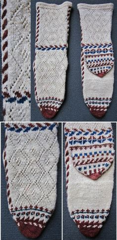 Traditional woollen socks, for women. From western Anatolia, ca. 1995. (Inv.n° çor201 - Kavak Costume Collection - Antwerpen/Belgium).