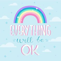 Everything will be ok lettering Free Vec. Hand Lettering Quotes, Hand Drawn Lettering, Typography Quotes, Retro Typography, Sweet Quotes, Me Quotes, Friend Quotes, Frases Ok, It Will Be Ok Quotes
