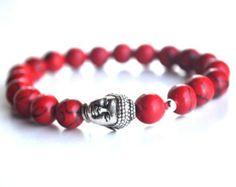 Turquoise bracelet silver elephant bracelet by TheArtHausStudios