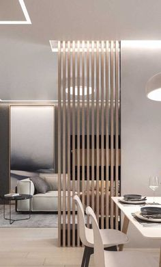 Apartment Interior, Living Room Interior, Home Living Room, Home Room Design, Living Room Designs, House Design, Living Room Partition Design, Room Partition Designs, Flur Design