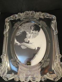 "Mikasa Crystal Picture Photo Frame Princess Satin Wedding Frame 11.25"" Germany"