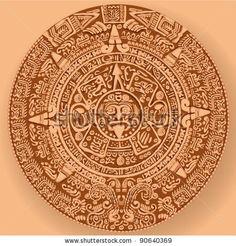 stock vector : Mayan calendar