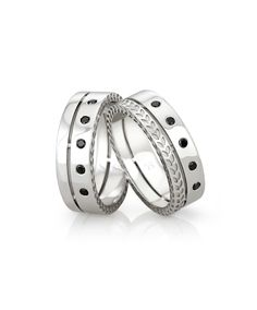 Ultra stylish gents rings with black diamonds