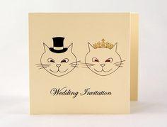 3 fold cats design | Wedding invitations UK
