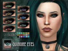 Quinone Eyes for The Sims 4  Found in TSR Category 'Sims 4 Female Costume Makeup'