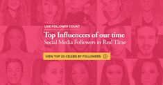 Check Out the Top 20 Social Influencers of Our Time