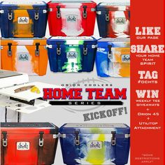 Win an cooler in your favorite team colors from @OrionCoolers!