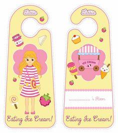 Raspberry Ripple Lottie doll door hangers for kids #free #printables Download at www.lottie.com/create/