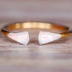 Gold Mermaid Tail Opal Ring || LIMITED STOCK || www.indieandharper.com