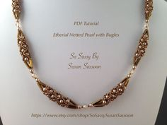Etherial Netted Pearl with Bugles Necklace Tutorial