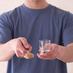 Peanut Butter    1 serving = 1 tablespoon    You're doing great if your peanut butter serving fits into half of a 1-ounce shot glass.
