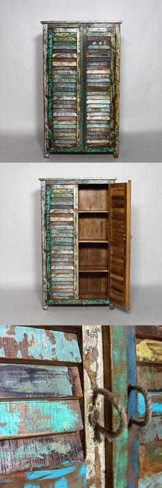 Armoire style exotique en bois recyclé, modèles uniques, écologique et tendance…