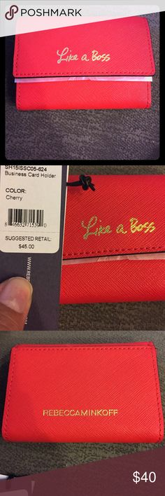 Business Card Holder NWT Red NWT Rebecca Minkoff business card holder. Retails for $45. Rebecca Minkoff Bags