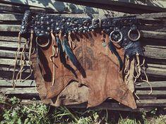 The Seer/Völva Leather Skirt