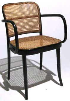 IMAGE: Designed by Josef Hoffmann, made by Michael Thonet & Sons, a bentwood armchair with a caned seat and back