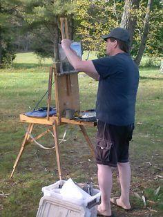Painting at Jomeokee Camp Ground, Pilot Mountain, NC