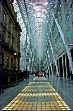 "Let There Be Light! ""Allen Lambert Galleria""  (1992) on  Bay Street, Toronto (Arch.  Santiago Calatrava)"
