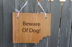 Beware Of Dog Sign And Caution Dog Yard Fence Gate Sign . Double Sided Hanging…